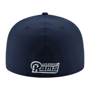 Los Angeles Rams New Era Navy Super Bowl LIII Side Patch Sideline 59FIFTY Fitted Hat
