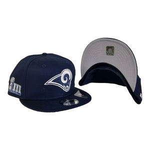 Los Angeles Rams New Era Navy Super Bowl LIII Side Patch Sideline 9FIFTY Snapback Adjustable Hat