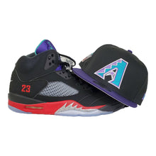Load image into Gallery viewer, MATCHING NEW ERA 9FIFTY ARIZONA DIAMONDBACKS SNAPBACK HAT FOR JORDAN 5 TOP 3