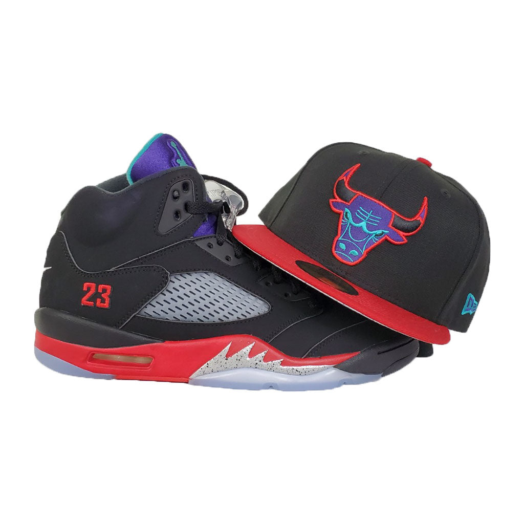 MATCHING NEW ERA 9FIFTY CHICAGO BULLS FITTED HAT FOR JORDAN 5 TOP 3