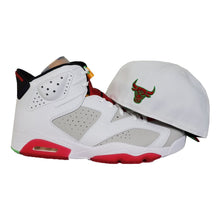 Load image into Gallery viewer, MATCHING NEW ERA CHICAGO BULLS FITTED HAT FOR JORDAN 6 HARE
