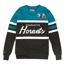 Load image into Gallery viewer, MITCHELL & NESS CHARLOTTE HORNETS HEAD COACH CREW SWEATSHIRT