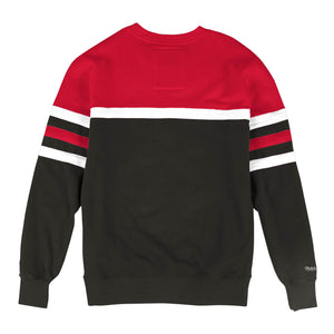 MITCHELL & NESS CHICAGO BULLS HEAD COACH CREW SWEATSHIRT