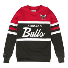 Load image into Gallery viewer, MITCHELL & NESS CHICAGO BULLS HEAD COACH CREW SWEATSHIRT