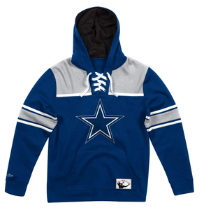 MITCHELL & NESS DALLAS COWBOYS FLEECE HOCKEY HOODIE