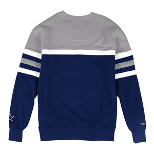 MITCHELL & NESS DALLAS COWBOYS HEAD COACH CREW SWEATSHIRT