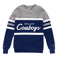 Load image into Gallery viewer, MITCHELL & NESS DALLAS COWBOYS HEAD COACH CREW SWEATSHIRT