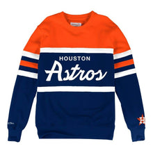 Load image into Gallery viewer, MITCHELL & NESS HOUSTON ASTROS HEAD COACH CREW SWEATSHIRT