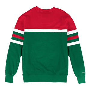 MITCHELL & NESS MILWAUKEE BUCKS HEAD COACH CREW SWEATSHIRT
