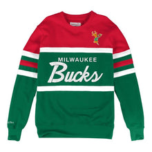 Load image into Gallery viewer, MITCHELL & NESS MILWAUKEE BUCKS HEAD COACH CREW SWEATSHIRT
