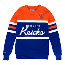 Load image into Gallery viewer, MITCHELL & NESS NEW YORK KNICKS HEAD COACH CREW SWEATSHIRT