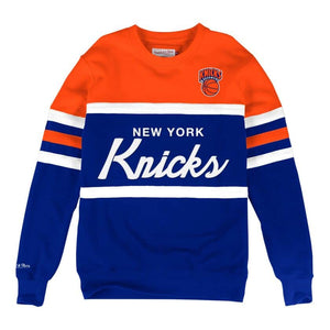 MITCHELL & NESS NEW YORK KNICKS HEAD COACH CREW SWEATSHIRT