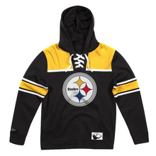 Load image into Gallery viewer, MITCHELL & NESS PITTSBURGH STEELERS FLEECE HOCKEY HOODIE