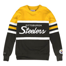 Load image into Gallery viewer, MITCHELL & NESS PITTSBURGH STEELERS HEAD COACH CREW SWEATSHIRT