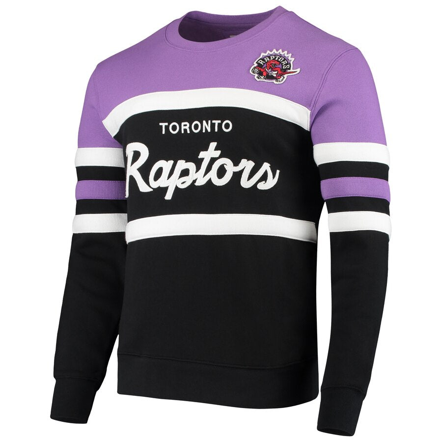 MITCHELL & NESS TORONTO RAPTORS HEAD COACH CREW SWEATSHIRT
