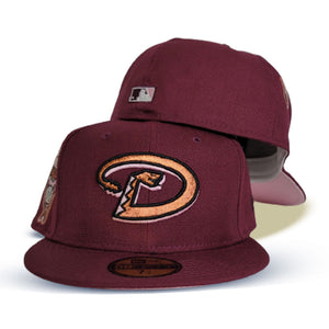 Maroon Arizona Diamondbacks Pink Bottom 1998 Inaugural Season New Era 59Fifty Fitted