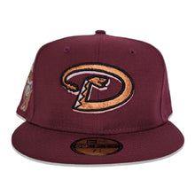 Load image into Gallery viewer, Maroon Arizona Diamondbacks Pink Bottom 1998 Inaugural Season New Era 59Fifty Fitted