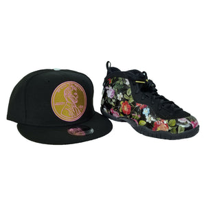 Matching 1¢ Penny Snapback for Nike Foamposite One Floral