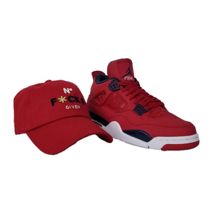 Matching Field Grade No F*cks Given Dad HAt For Jordan 4 FIBA