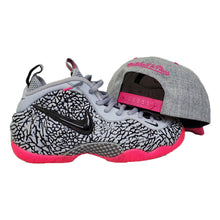 Load image into Gallery viewer, Matching Mitchell & Ness Boston Celtics Snapback For Nike Foamposite Pink Elephant Print