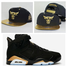 Load image into Gallery viewer, Matching Mitchell & Ness Chicago Bulls Snapback Hat for Jordan 6 DMP