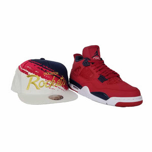 Matching Mitchell & Ness New York Knicks Snapback Hat For Jordan 4 FIBA