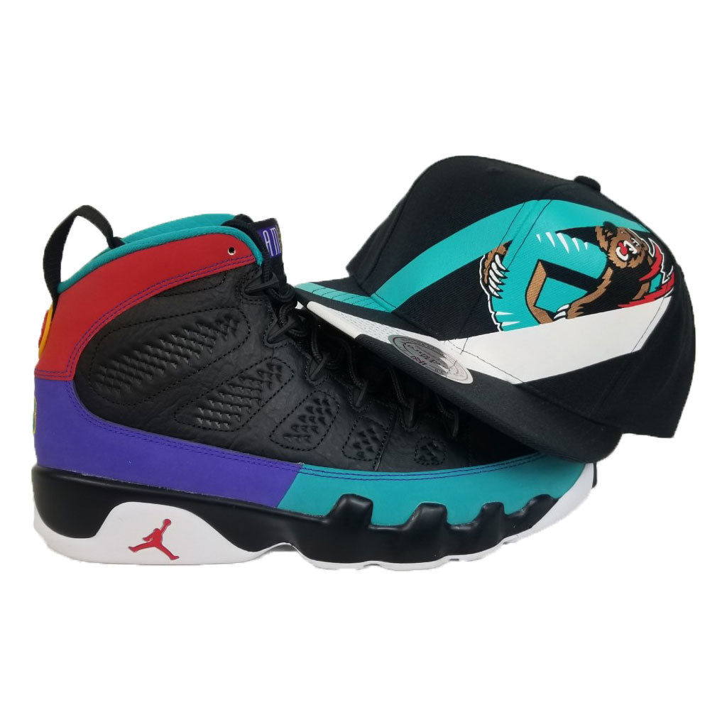 Matching Mitchell & Ness Vancouver Grizzlies Snapback Hat For Jordan 9 Dream It Do It