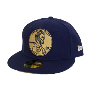 Matching New Era 1¢ Penny Fitted Hat For Nike Foamposite Midnight Navy