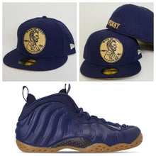 Load image into Gallery viewer, Matching New Era 1¢ Penny Fitted Hat For Nike Foamposite Midnight Navy