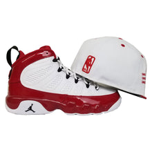 Load image into Gallery viewer, Matching New Era 2-Tone Chicago Bulls Fitted Hat For Jordan 9 Gym Red