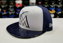 Load image into Gallery viewer, Matching New Era 59Fifty Miami Marlins Fitted Hat for Jordan 11 Midnight Navy