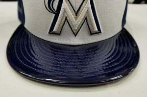 Matching New Era 59Fifty Miami Marlins Fitted Hat for Jordan 11 Midnight Navy