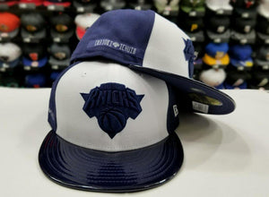 Matching New Era 59Fifty NBA New York Knicks Fitted Hat for Jordan 11 Midnight Navy
