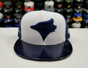 Matching New Era 59Fifty Toronto Blue Jays Fitted Hat for Jordan 11 Midnight Navy