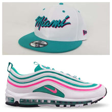 Load image into Gallery viewer, Matching New Era 9Fifty Miami Heat snapback for Nike Air Max 97 South Beach