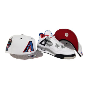 Matching New Era Arizona Diamondbacks Snapback Hat For Jordan 4 What The
