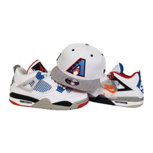 Load image into Gallery viewer, Matching New Era Arizona Diamondbacks Snapback Hat For Jordan 4 What The