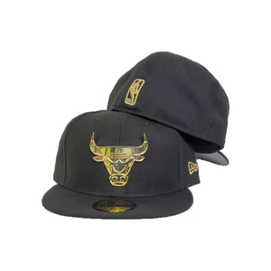 Matching New Era Black Chicago Bulls Fitted Hat for Jordan 6 DMP