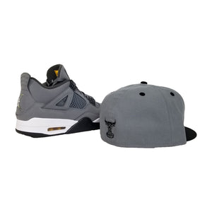 Matching New Era Chicago Bulls 59Fifty Fitted Hat for Jordan 4 Cool Grey