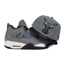 Load image into Gallery viewer, Matching New Era Chicago Bulls 59Fifty Fitted Hat for Jordan 4 Cool Grey