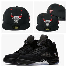 Load image into Gallery viewer, Matching New Era Chicago Bulls 59Fifty Fitted for Jordan 5 PSG