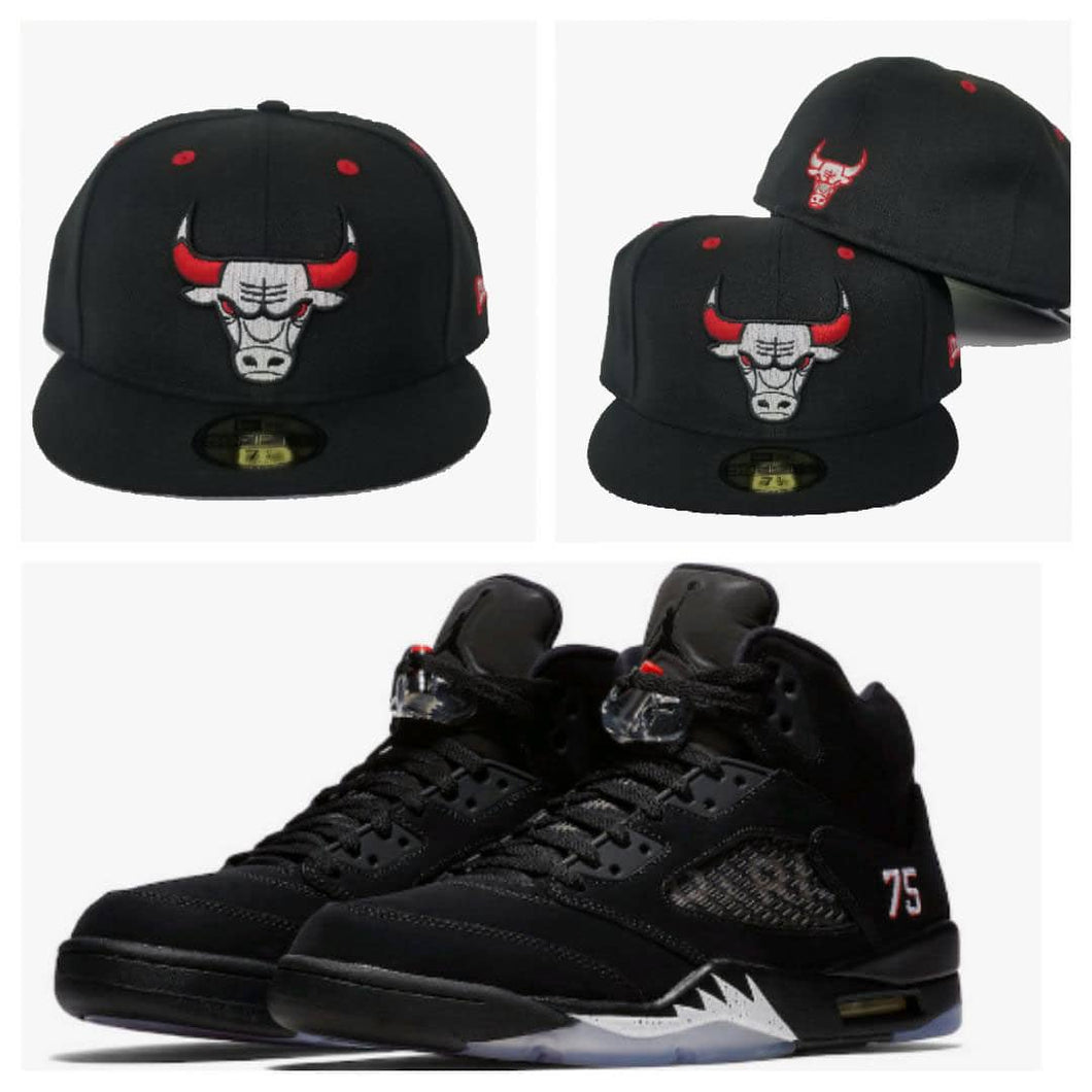 Matching New Era Chicago Bulls 59Fifty Fitted for Jordan 5 PSG