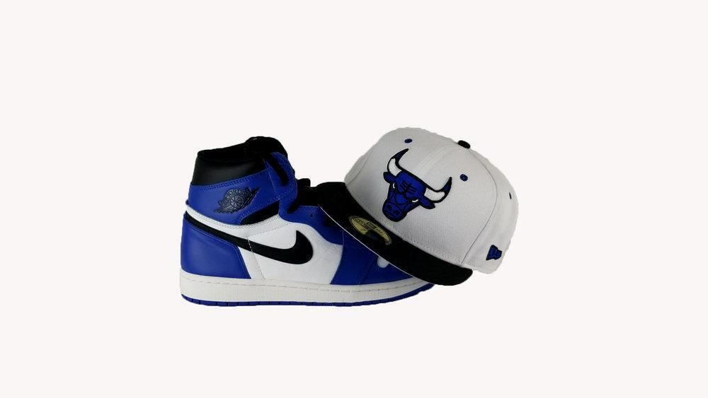 Matching New Era Chicago Bulls 9Fifty Fitted Hat For Air Jordan 1 OG Game Royal