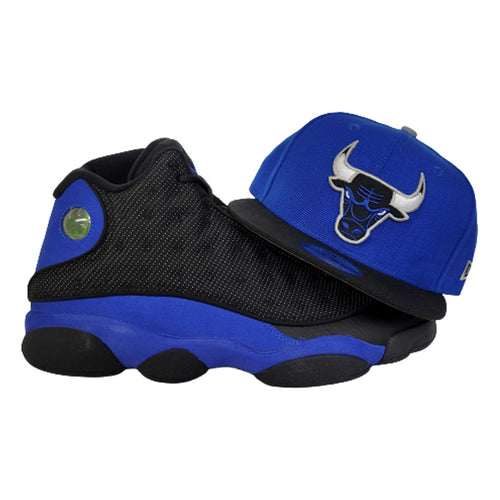 Matching New Era Chicago Bulls 9Fifty Snapback Hat for Jordan 13 Hyper Royal