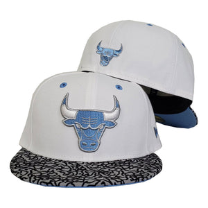 Matching New Era Chicago Bulls Fitted Hat For Jordan 3 UNC
