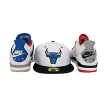 Load image into Gallery viewer, Matching New Era Chicago Bulls Fitted Hat For Jordan 4 What The