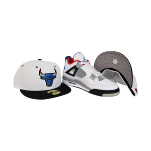 Matching New Era Chicago Bulls Fitted Hat For Jordan 4 What The