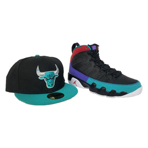 Matching New Era Chicago Bulls Fitted Hat For Jordan 9 Dream It Do It