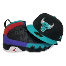 Load image into Gallery viewer, Matching New Era Chicago Bulls Fitted Hat For Jordan 9 Dream It Do It