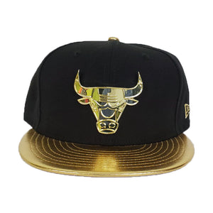 Matching New Era Chicago Bulls Fitted Hat for Jorda 6 DMP Black Gold